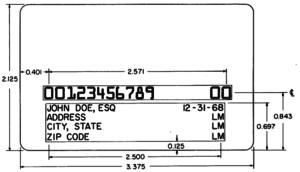 Kreditkarte nach ANSI-Standard X4.13-1971