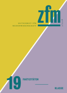 Cover Zeitschrift für Medienwissenschaft Faktizitäten