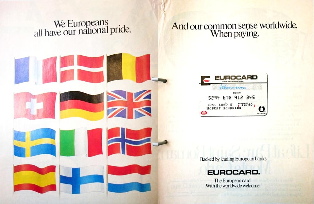 Eurocard Advertising Campaign, published May 12, 1980. Historisches Institut der Deutschen Bank, Frankfurt am Main, V19/0239/02