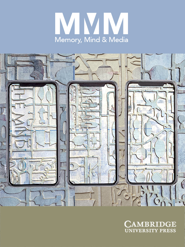 Cover Memory, Mind and Media