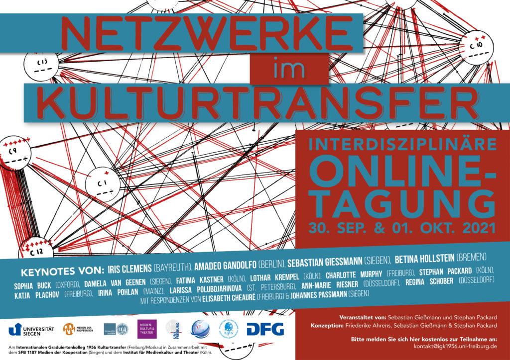 Poster Netzwerke im Kulturtransfer